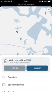 nordvpn app setup