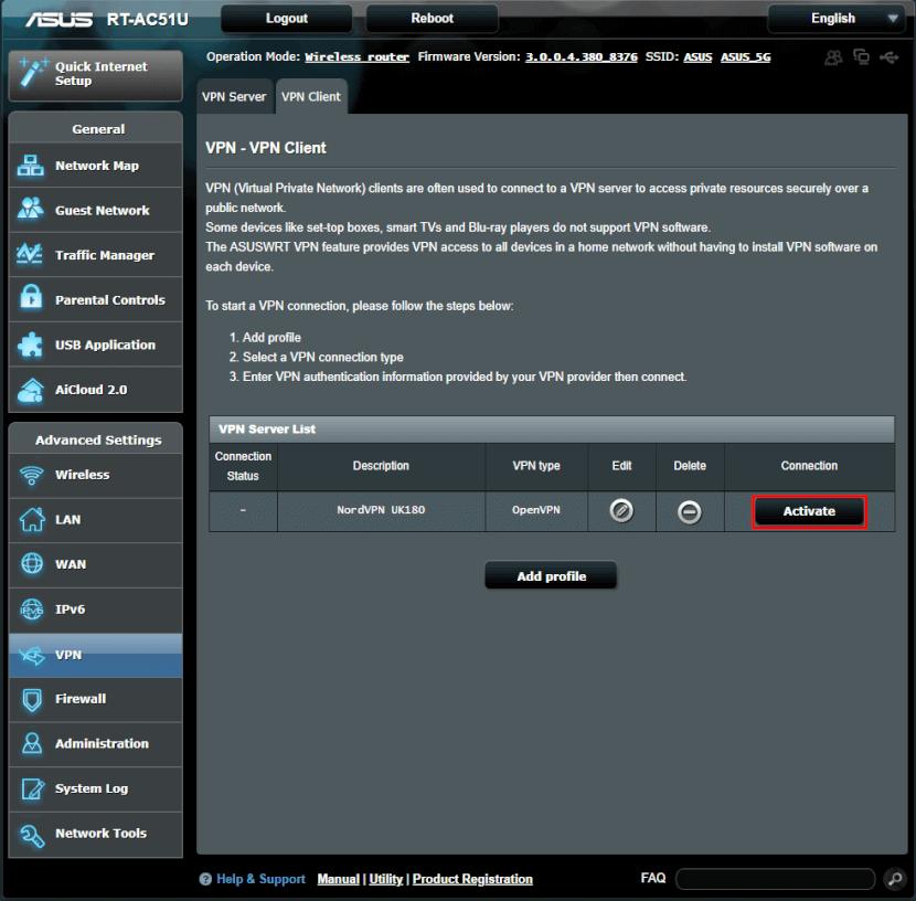ASUS VPN aktivieren