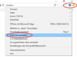 Toolbars entfernen Internet Explorer