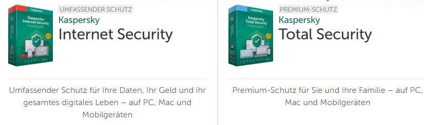 Kaspersky Antivirus Pakete