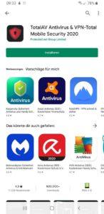 Virenscanner für Android TotalAV Installieren