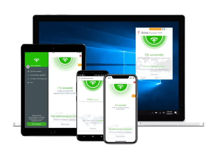 Avira Phantom VPN Devices