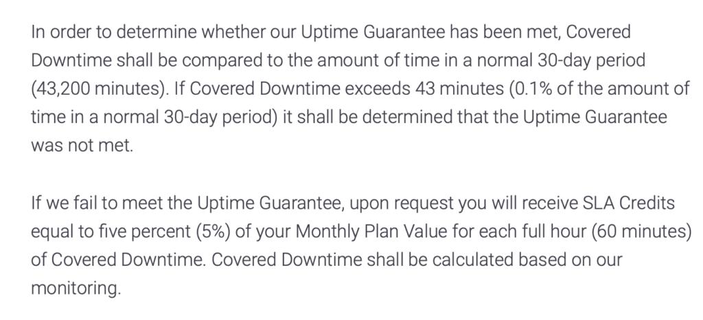 Uptime Garantie Kinsta SLA