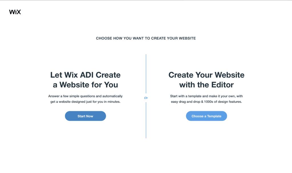 Wix ADI vs Editor