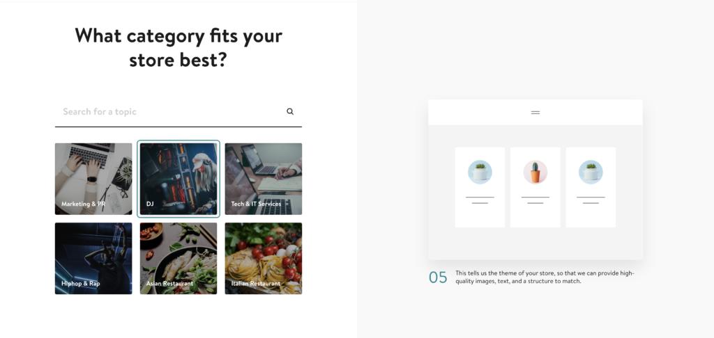 Jimdo Webseiten Kategorien
