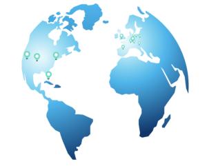 1 & 1 IONOS Weltkarte - Server