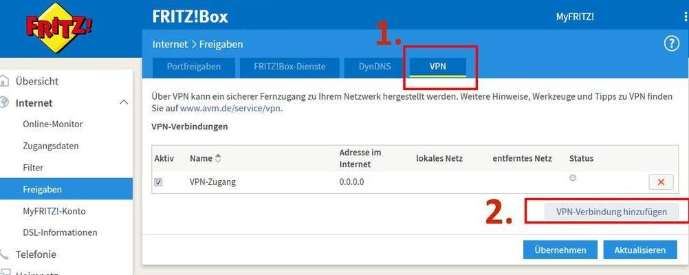 VPN-Verbindung hinzufügen