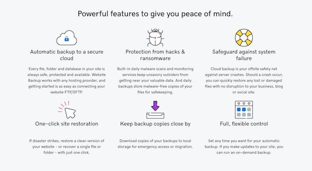 Features & Funktionen bei GoDaddy