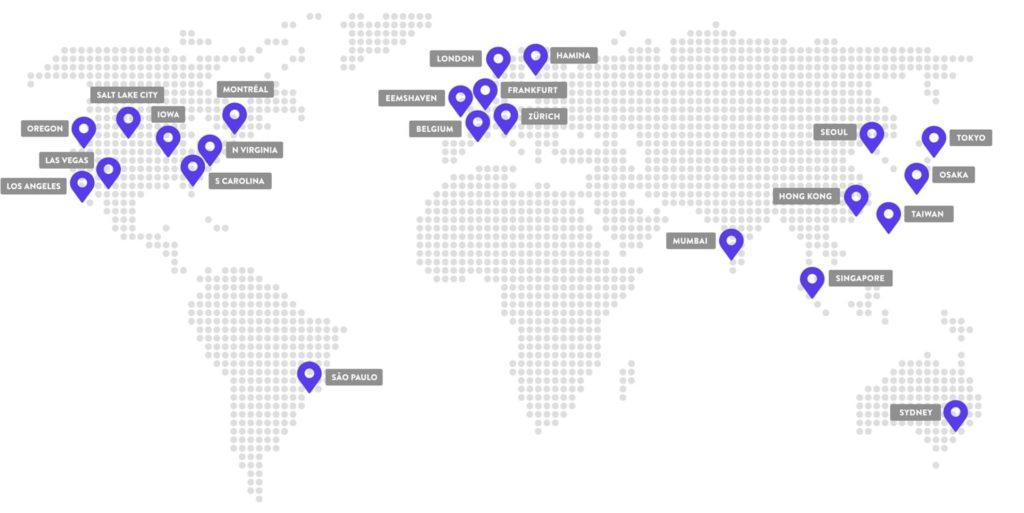 Kinsta Server Standorte