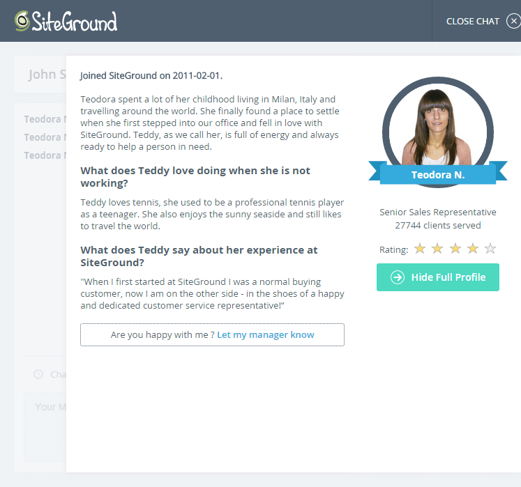 SiteGround Support
