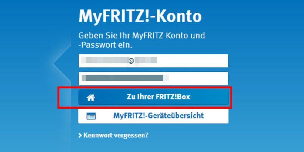 MyFRITZ! Fernzugriff