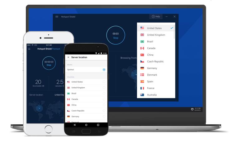 Hotspot Shield VPN Geräte
