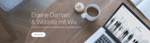 Wix Domain und Webhosting Banner