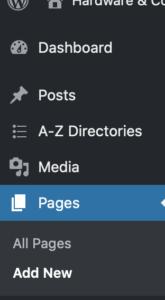WordPress Seiten
