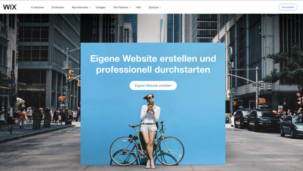 Webseite erstellen Wix Registrieren