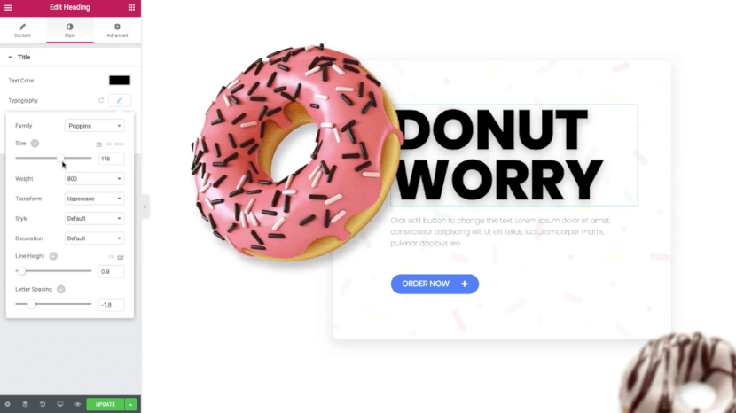 Elementor - Donut Worry - Page Builder