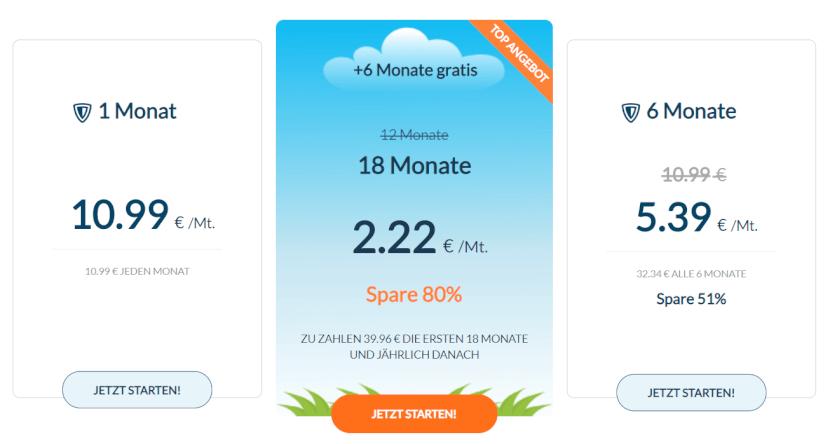 Zenmate VPN Preise