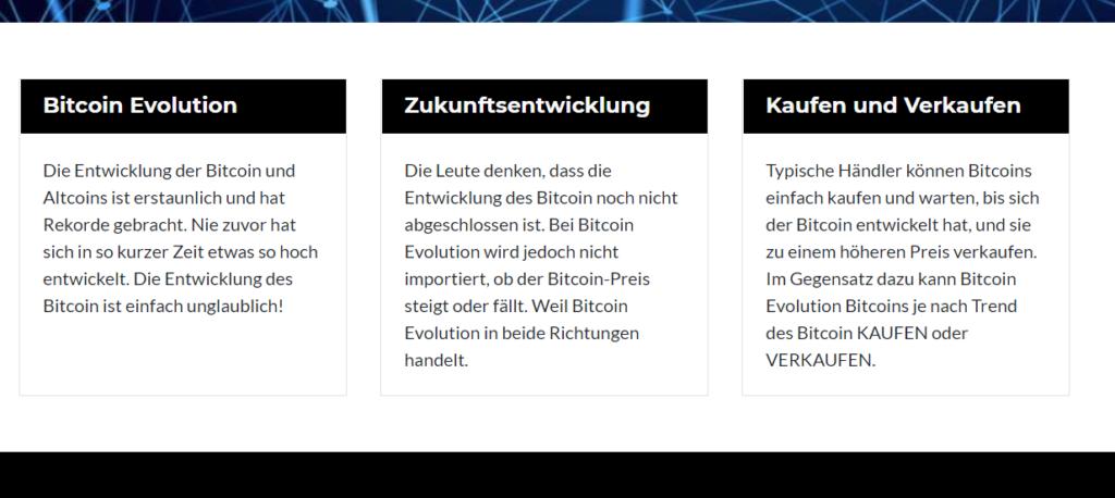 Bitcoin Evolution Erfahrung