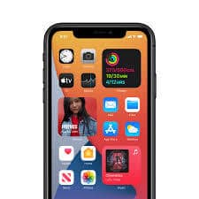 iOS 14 Startbildschirm