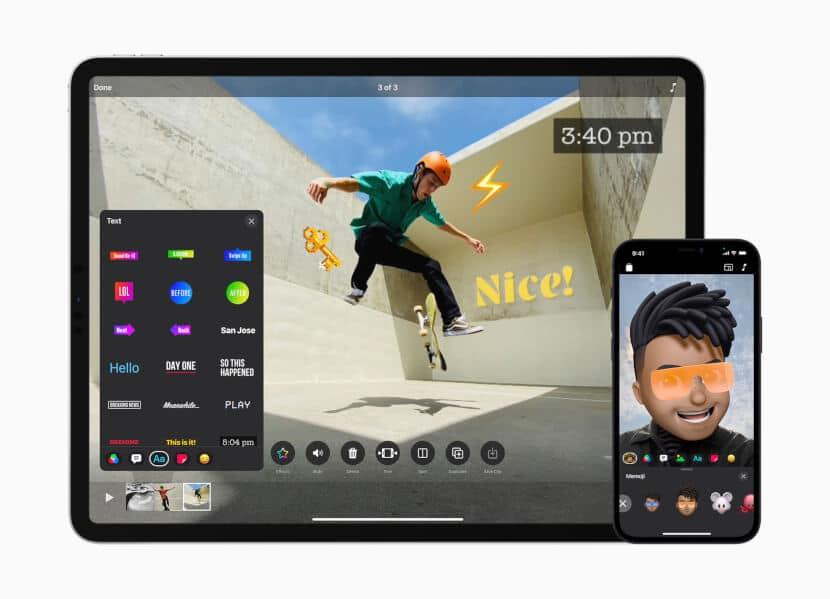 Apple Clips Update auf iPad