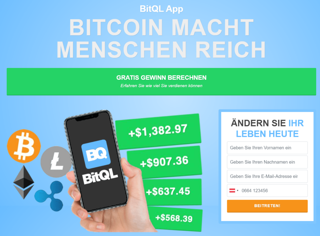 BitQL Webseite