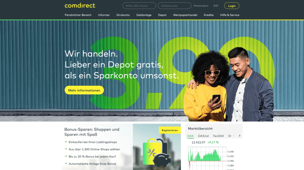 Comdirect Webseite