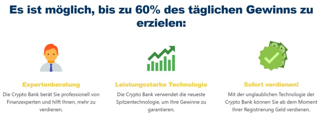 Crypto Bank Gewinne