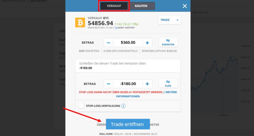 Bitcoin Verkaufen eToro