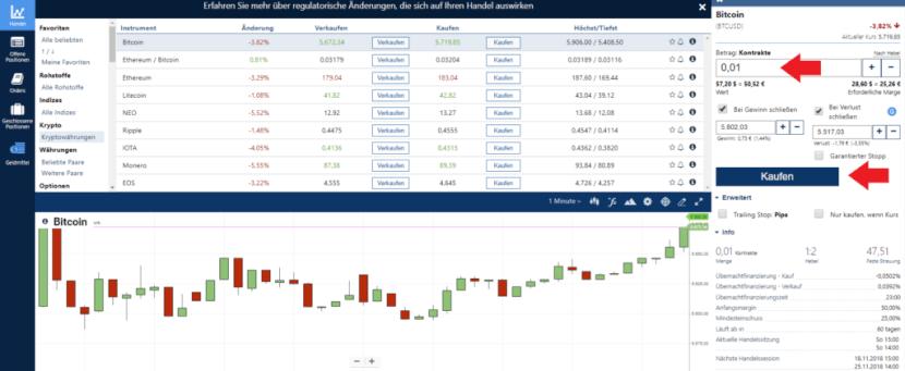 Plus500 Bitcoin kaufen
