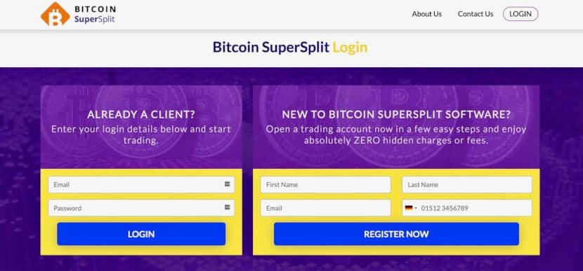 Bitcoin Supersplit log-in