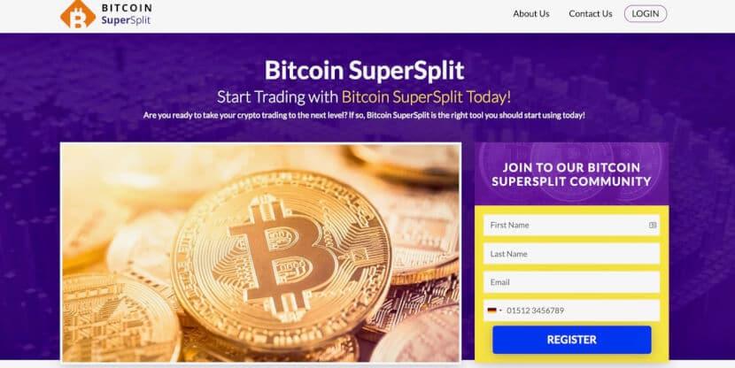 Bitcoin Supersplit website