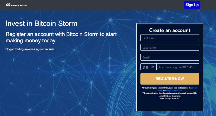 bitcoin storm registrierung