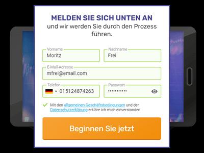 Profit Horizon Registrierung